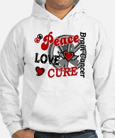 Peace Love Cure 2 Brain Cancer Hoodie