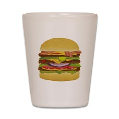 cheeseburger king Shot Glass