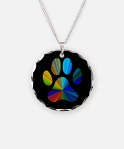 PAW PRINT Necklace Circle Charm