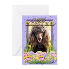 Easter Egg Cookies - Poodle Greeting Card
