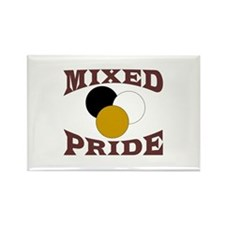 Biracial Pride Rectangle Magnet