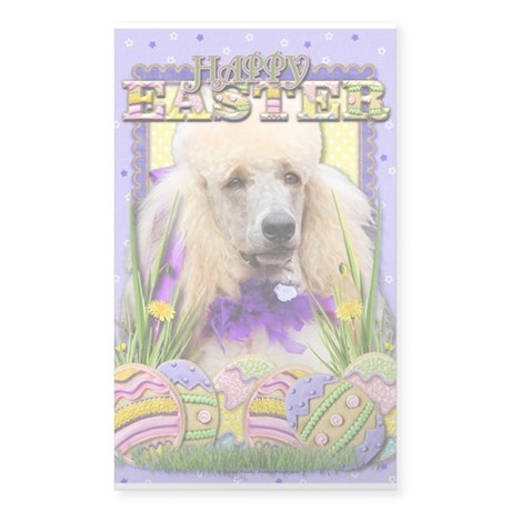 Easter Egg Cookies - Poodle Sticker (Rectangle)