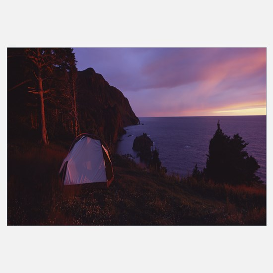 Tent on an island, Gulf Of St Lawrence, Gros Morne
