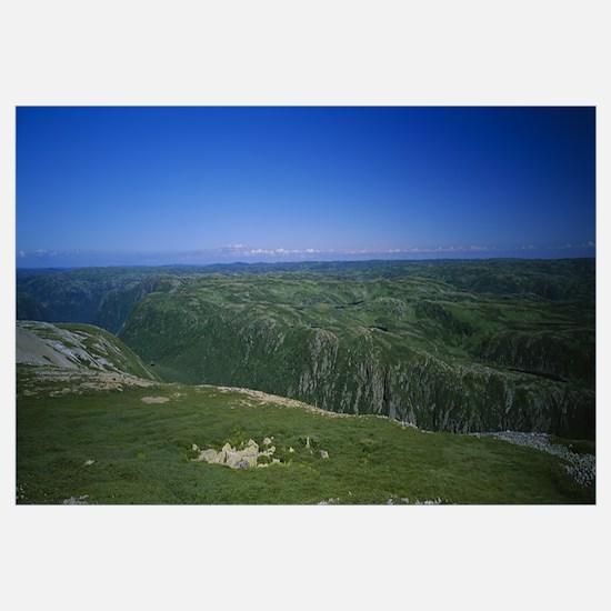 High angle view of a plateau, Gros Morne National
