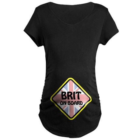 Brit on Board Maternity Dark T-Shirt