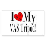 I Love My VAS Tripod Rectangle Sticker