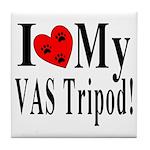 I Love My VAS Tripod Tile Coaster