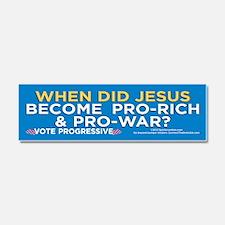 Jesus Pro-War? (Car Magnet 10x3)
