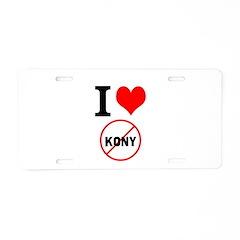 I Heart Stop Kony Aluminum License Plate