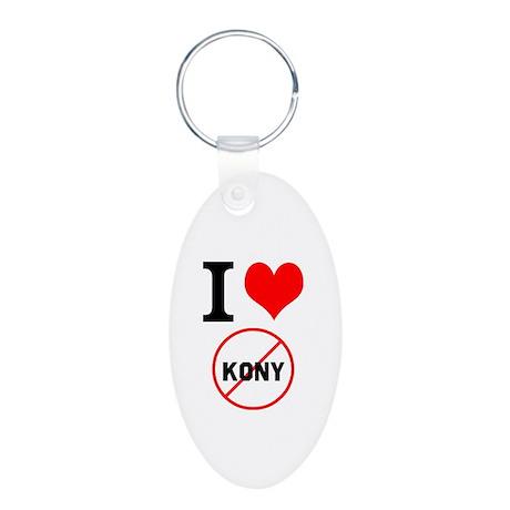 I Heart Stop Kony Aluminum Oval Keychain