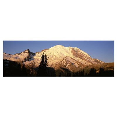 Emmons Glacier, Mt. Rainier National Park, Washing Poster