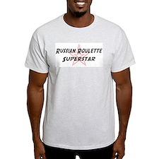 Russian Roulette Superstar Ash Grey T-Shirt
