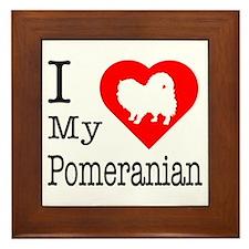 I Love My Pomeranian Framed Tile