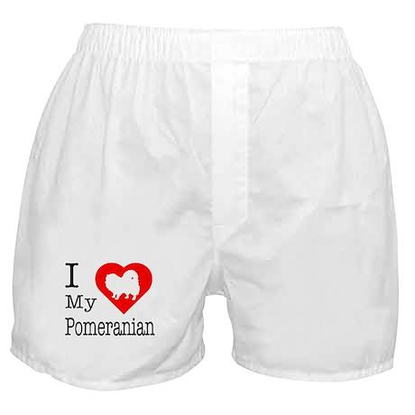 I Love My Pomeranian Boxer Shorts