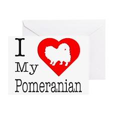 I Love My Pomeranian Greeting Cards (Pk of 20)