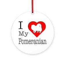 I Love My Pomeranian Ornament (Round)