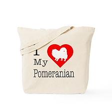 I Love My Pomeranian Tote Bag