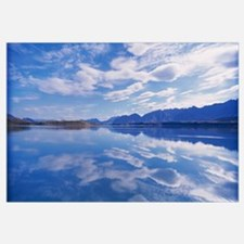 Reflection of clouds in a lake, Lake Pukaki, South