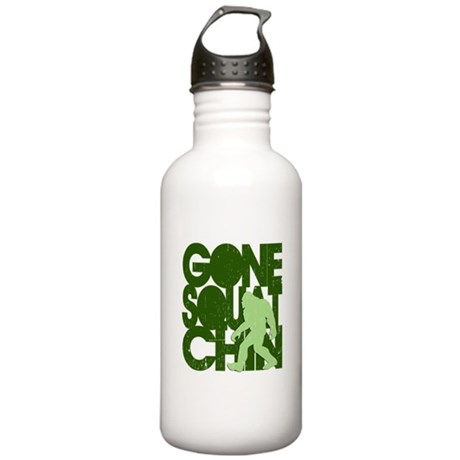 Gone Squatchin' Green Distres Stainless Water Bott