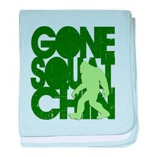 Gone Squatchin' Green Distres baby blanket