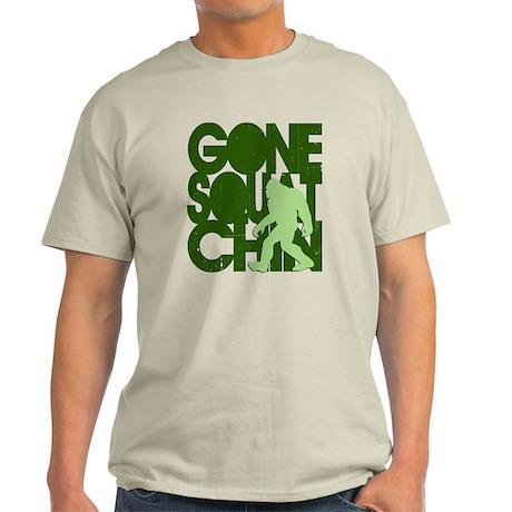 Gone Squatchin' Green Distres Light T-Shirt