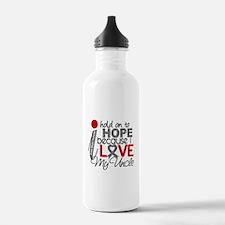 I Hold On To Hope Brain Tumor Water Bottle
