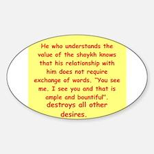 Sufi Sayings Decal