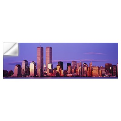 Skyscrapers in a city, Manhattan, New York City, N Wall Decal