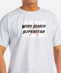 Word Search Superstar Ash Grey T-Shirt
