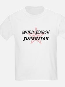 Word Search Superstar Kids T-Shirt