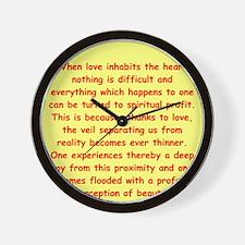 Sufi Sayings Wall Clock