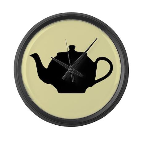 Tea Pot Large Wall Clock