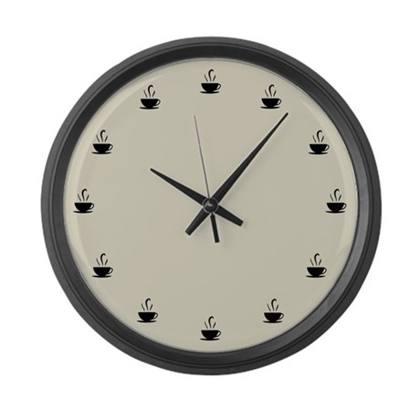Cuppa Time Large Wall Clock