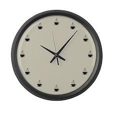 Cuppa Time Large Wall Clock