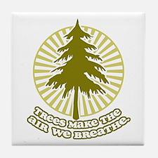 Trees Make Air Tile Coaster