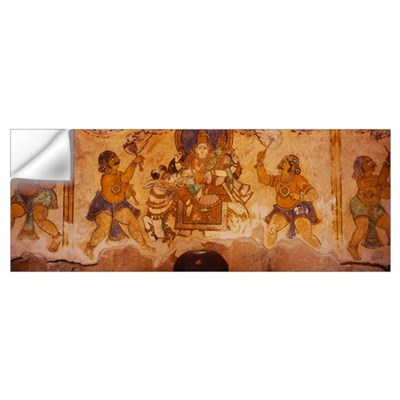 Close-up of a fresco on a wall, Tamil Nadu, India Wall Decal