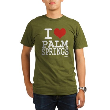I love Palm Springs Organic Men's T-Shirt (dark)