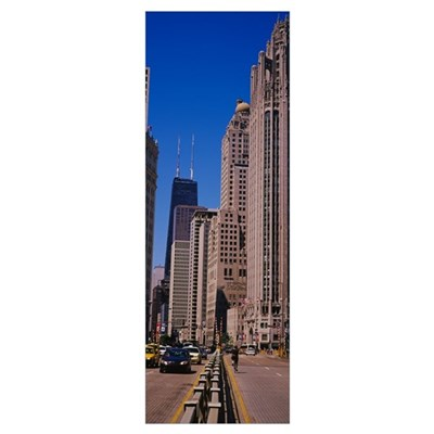 Skyscrapers in a city, Michigan Avenue, Chicago, I Poster