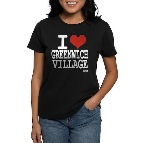 I love Greenwich Village Women's Dark T-Shirt