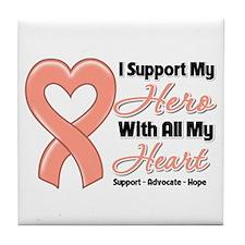 Uterine Cancer Support Tile Coaster