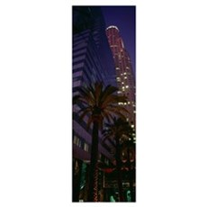 Low angle view of buildings in a city, City of Los Framed Print