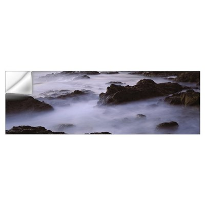 High angle view of rocks at the coast, Papagayo pe Wall Decal