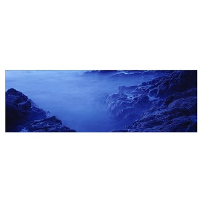 High angle view of rocks at the coast, Papagayo pe Poster