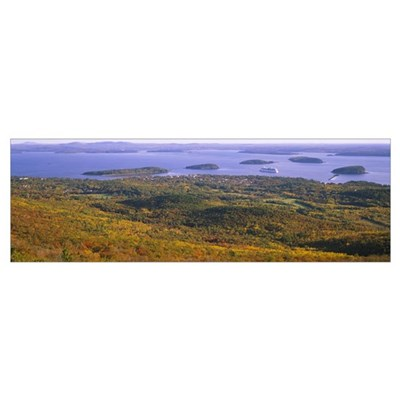 Islands in the sea, Porcupine Islands, Acadia Nati Poster