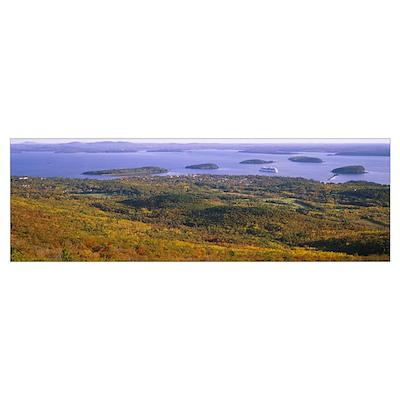 Islands in the sea, Porcupine Islands, Acadia Nati Poster