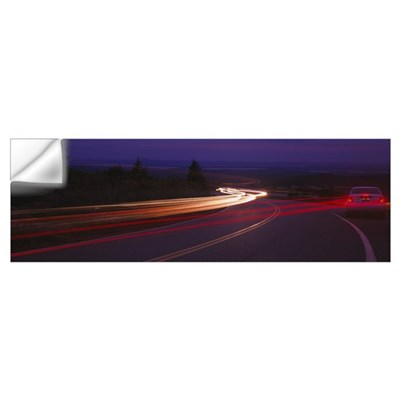 Cars moving on the road, Mount Desert Island, Acad Wall Decal