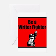Writer Fighter Greeting Card