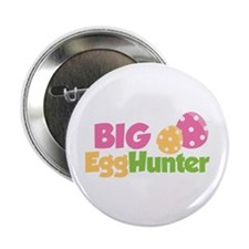 "Easter Girl Big Egg Hunter 2.25"" Button"