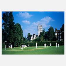 Group of people playing cricket, Berkshire, Englan