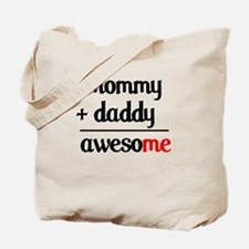 Mommy plus Daddy Tote Bag